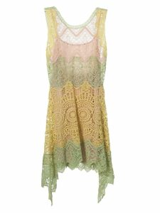 Alberta Ferretti Fitted Lace Dress