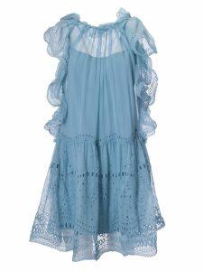 Alberta Ferretti Ruffle-trimmed Dress