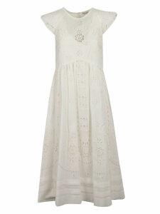 RED Valentino Sangalo Midi Embroidered Dress