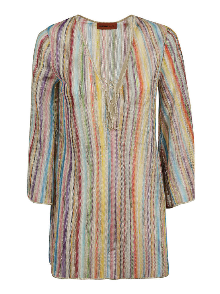 M Missoni Rainbow Striped Blouse