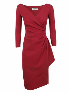 Chiara Boni Draped Long-sleeved Dress