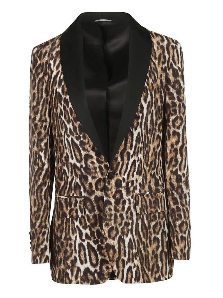 R13 Leopard Print Blazer