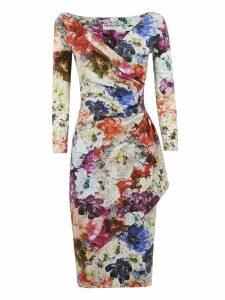Chiara Boni Floral Print Draped Dress