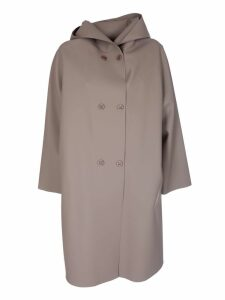 Max Mara Double Breasted Hooded Coat