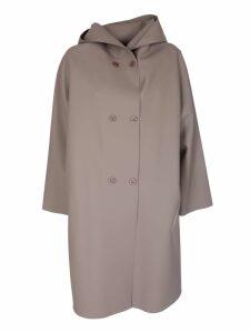 Max Mara Double Breasted Hooded Coat