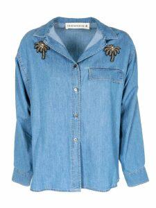 Shirt A Porter Embellished Denim Shirt