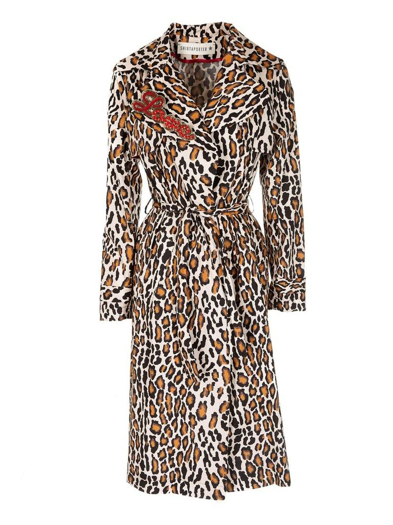 Shirt A Porter Leopard Print Trench
