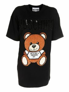 Moschino Sequined Teddy Dress
