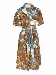 Shirt a Porter Jungle Print Shirt Dress