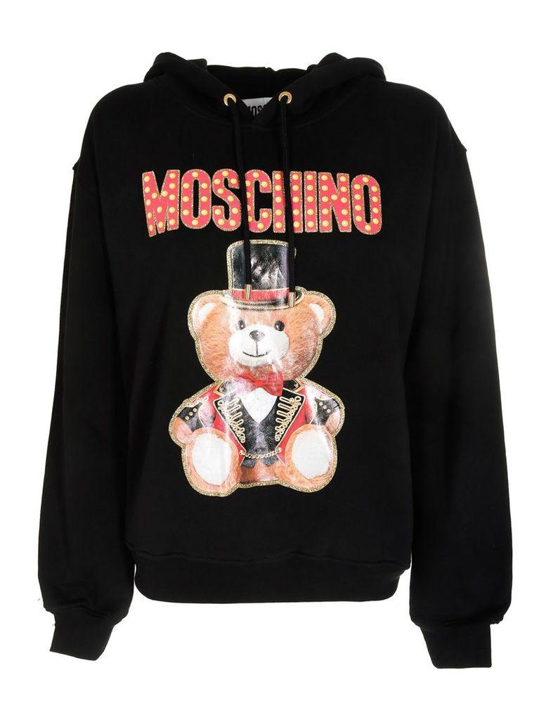 Moschino Bear Logo Detail Hoodie