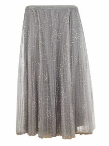 Red Valentino Pleated Tulle Skirt