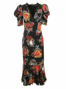 Dolce & Gabbana Sacred Heart Print Dress