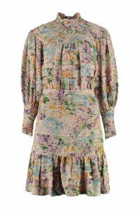 Zimmermann Floral Print Crêpe Dress