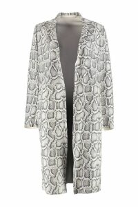 Salvatore Santoro Snakeskin Print Leather Coat