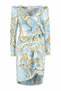 Moschino Printed Silk Dress