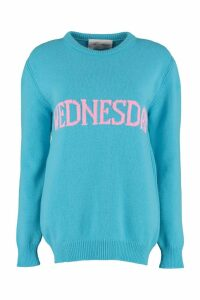 Alberta Ferretti wednesday Intarsia Rainbow Week Sweater
