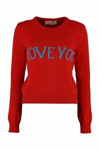 Alberta Ferretti i Love You Intarsia Sweater