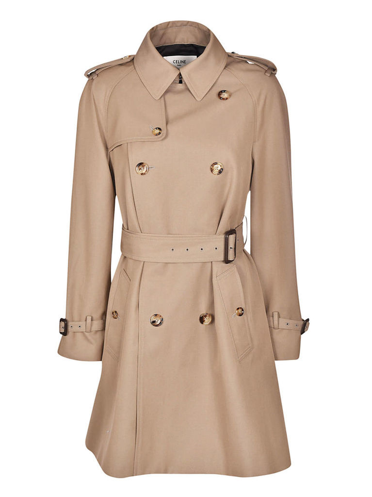 Celine Double-breasted Trench