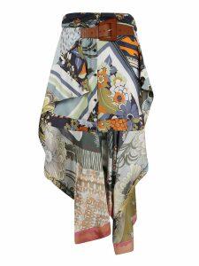 Chloé Printed Asymmetric Skirt