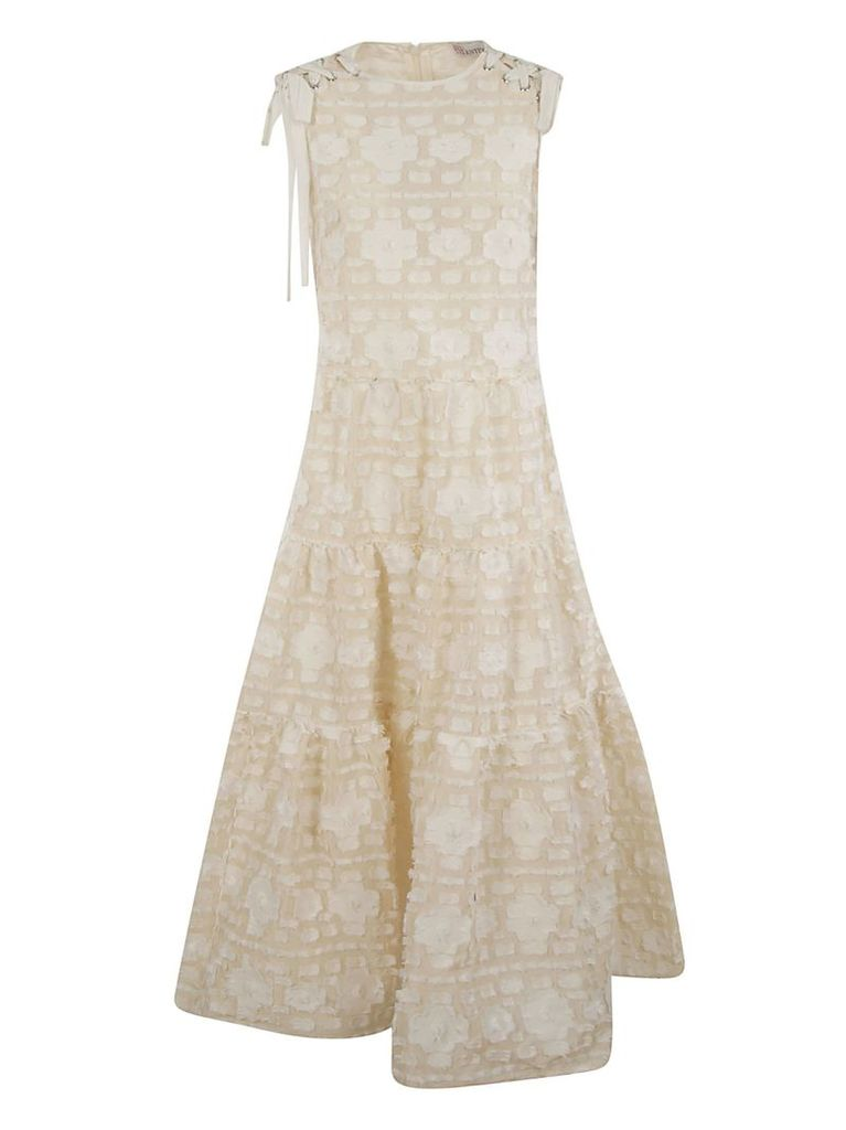 Red Valentino Fringed Floral Dress