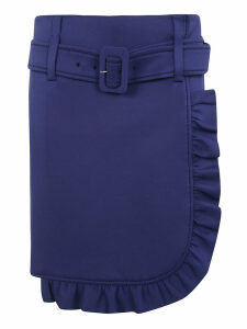 Prada Belted Asymmetric Skirt