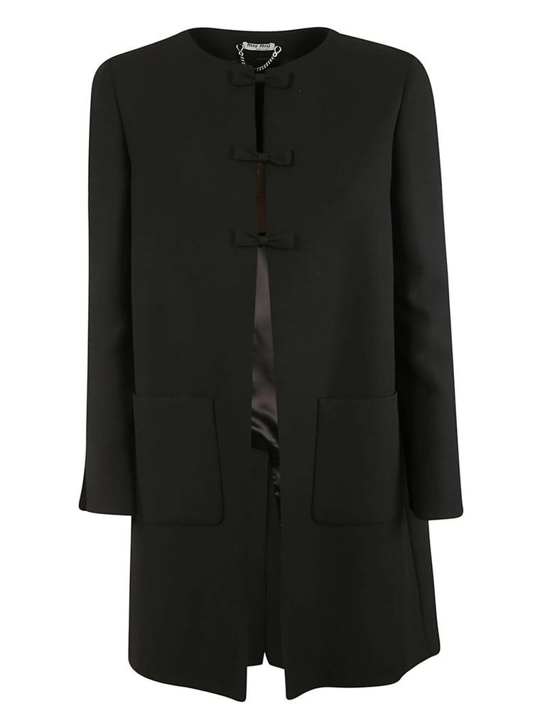 Miu Miu Bow Detailed Coat