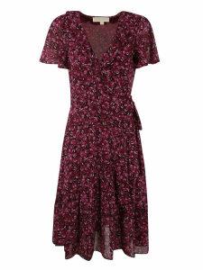 Michael Kors V-neck Floral Print Dress