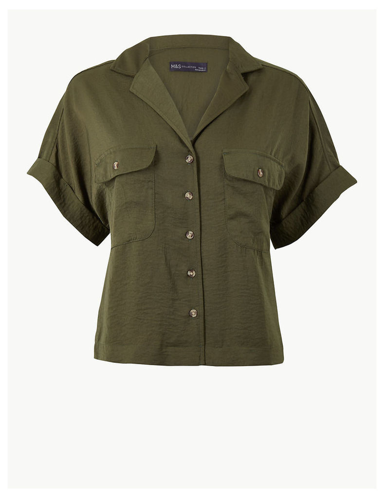 M&S Collection Oversized Button Detailed Shirt