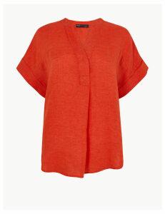 M&S Collection PETITE Pure Linen Blouse