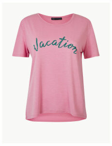 M&S Collection Vacation Relaxed Fit T-Shirt