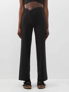 Dodo Bar Or - Myra Off Shoulder Floral Print Cotton Poplin Dress - Womens - Black Print