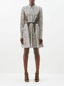 Heidi Klein - Frill Silk Midi Dress - Womens - Navy