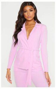 Lilac Belted Blazer, Purple