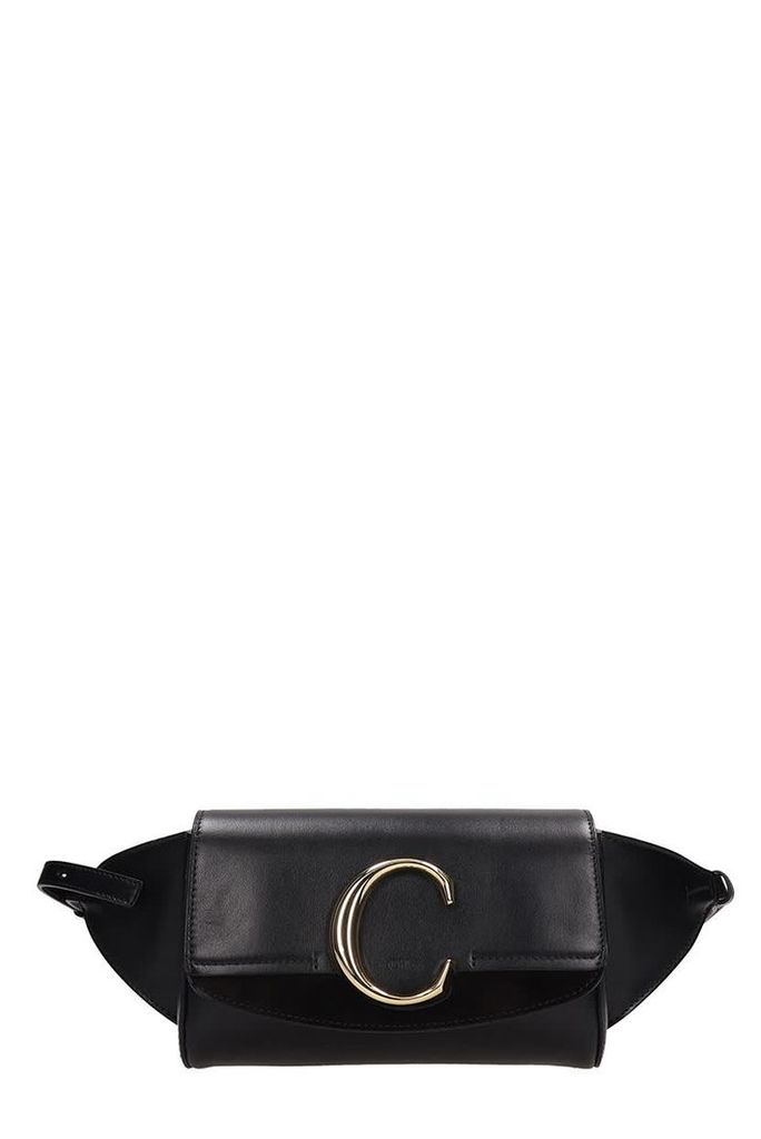 Chloé Black Leather And Suede Beltbag