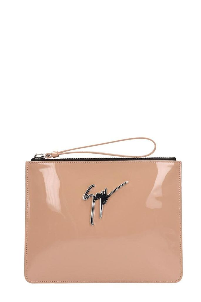 Giuseppe Zanotti Margery Pink Leather Pouch
