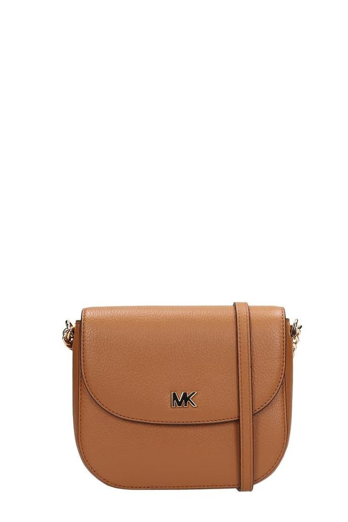 Michael Kors Browne Grained Leather Half Dome Bag