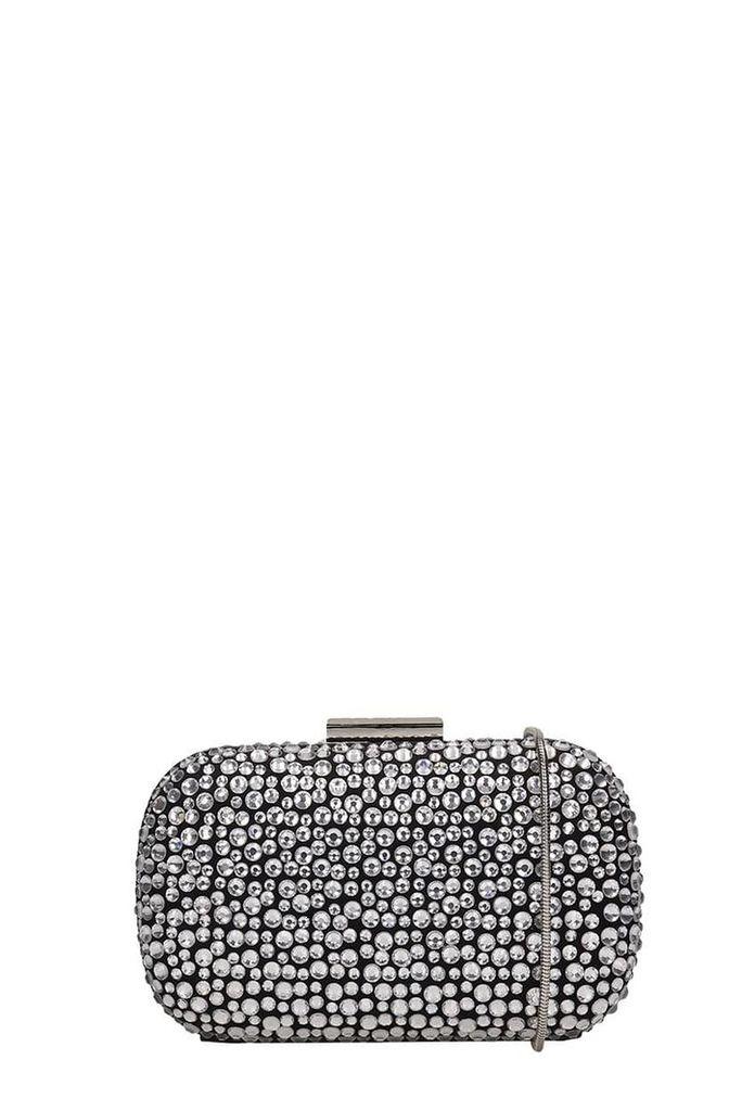 Lola Cruz Clutch Bag In Black Leather