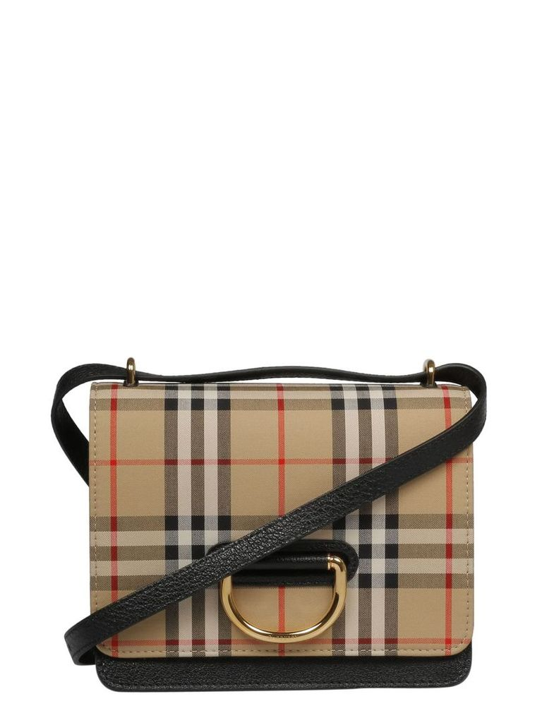 Burberry Checked Print Shoulder Bag