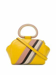 Tory Burch diagonal stripe tote bag - Yellow