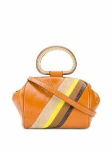 Tory Burch diagonal stripe tote bag - Orange
