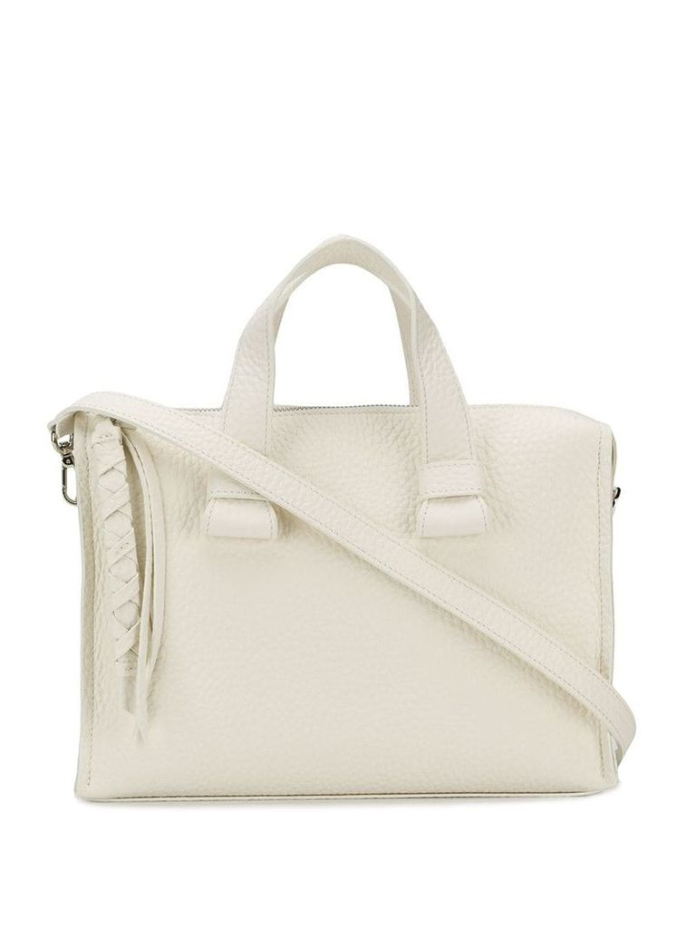 Orciani pebbled medium tote bag - White