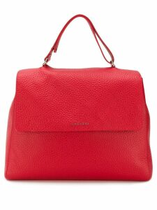 Orciani large pebbled tote bag - Red