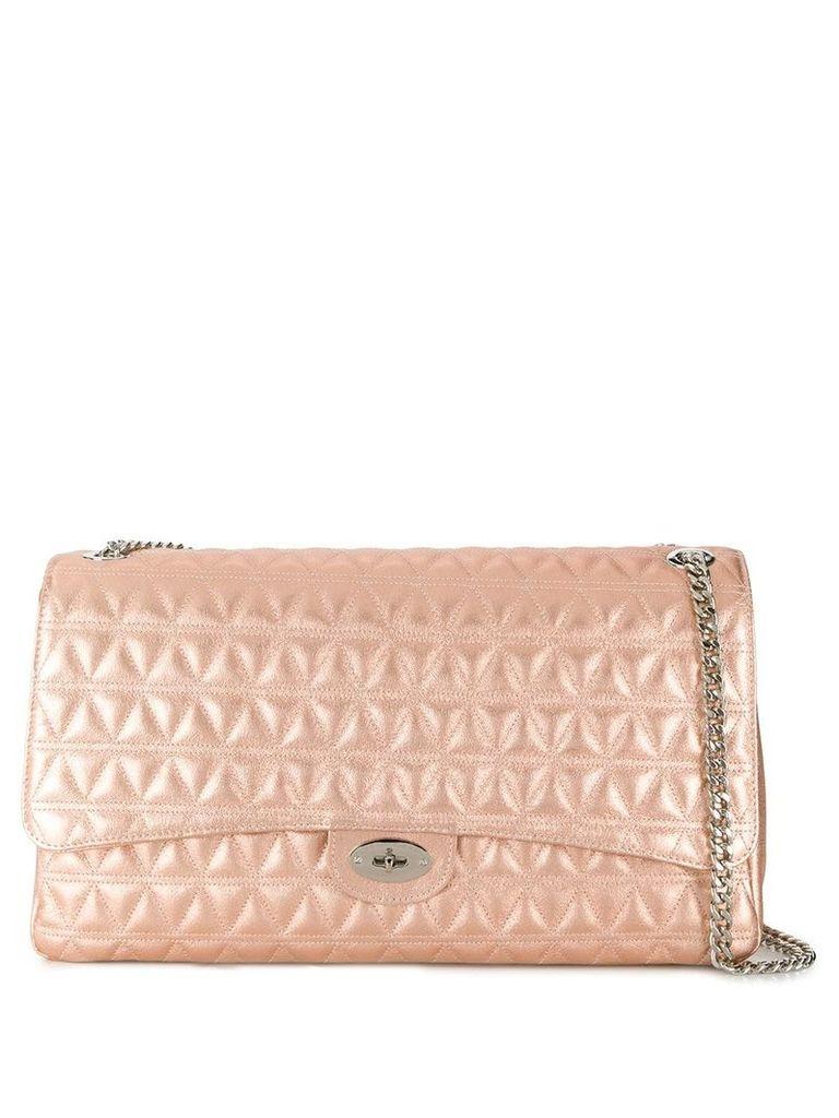 Marc Ellis Pilar large embroidered shoulder bag - Pink
