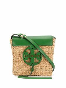 Tory Burch raffia logo shoulder bag - Green