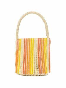 Sensi Studio small beaded tote bag - Neutrals