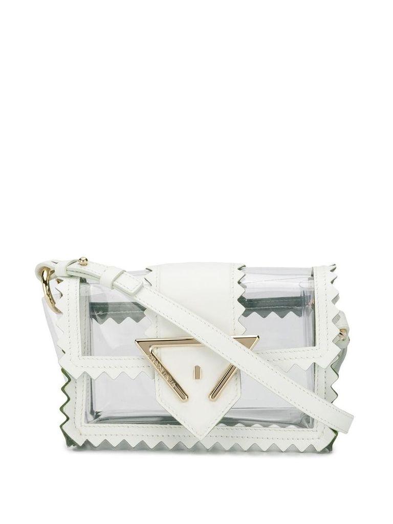 Sara Battaglia lazer cut mini bag - White