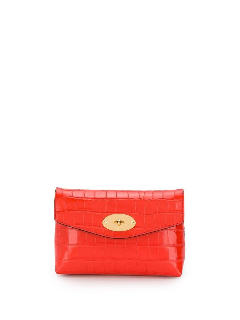 Mulberry Darley patent cosmetic pouch - Red