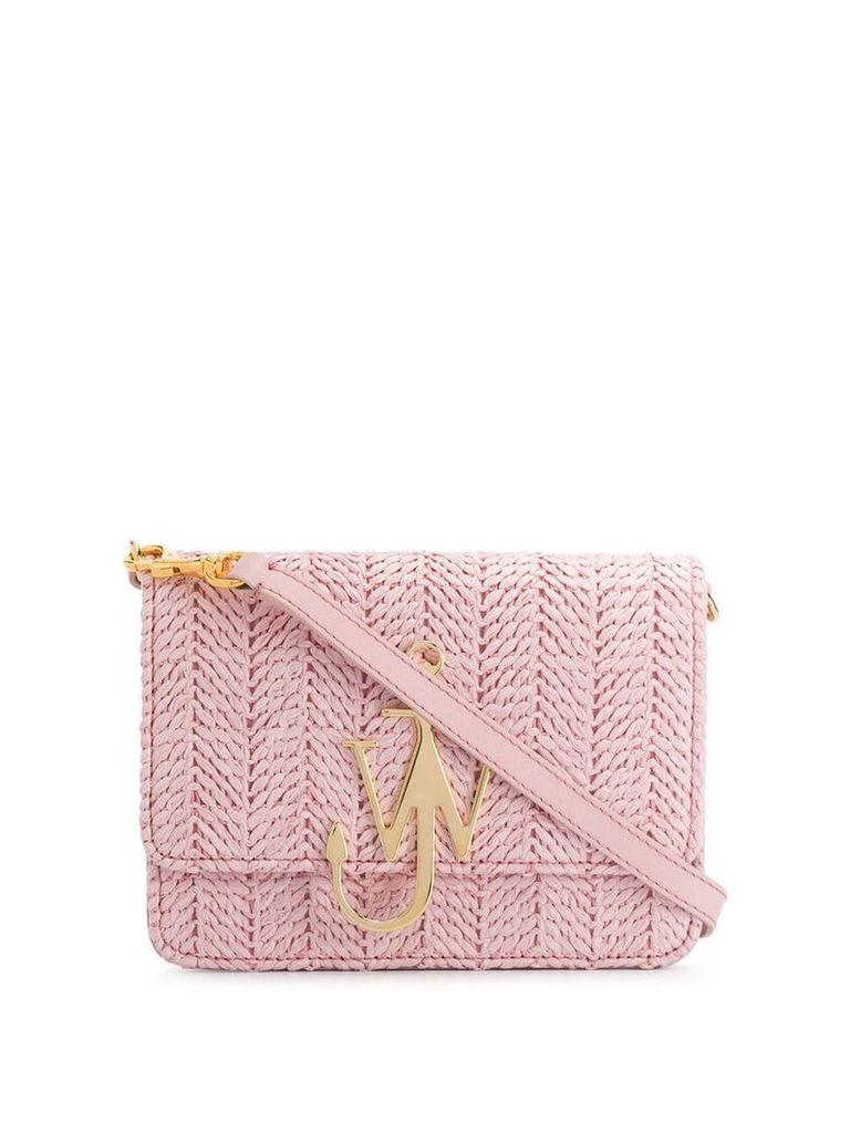 JW Anderson woven straw crossbody bag - Pink
