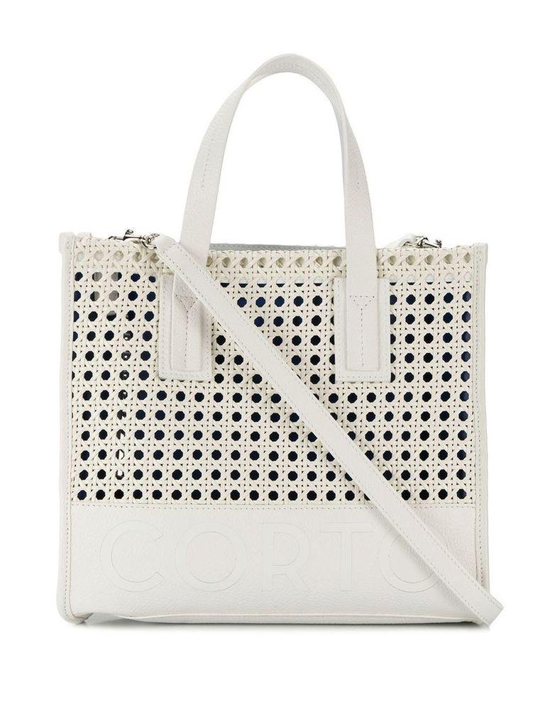 Corto Moltedo small shopper tote - White