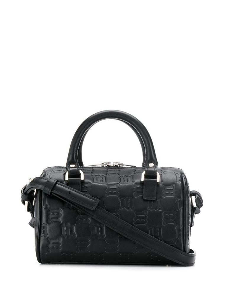 Misbhv small embossed tote bag - Black